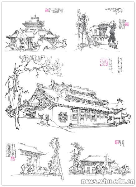 """""""武汉大学城市设计学院教授王炎松18年来精心绘制130幅武汉老房子原创"""